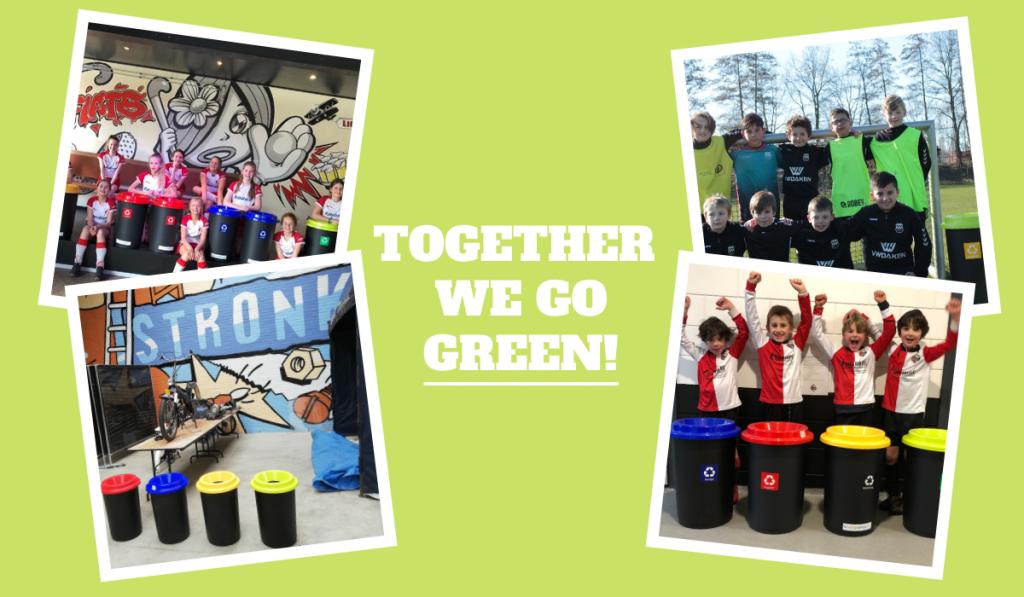 Recyclen voor een groenere planeet, orange planet